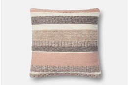 Accent Pillow-Magnolia Home Stripes Blush 22X22 By Joanna Gaines