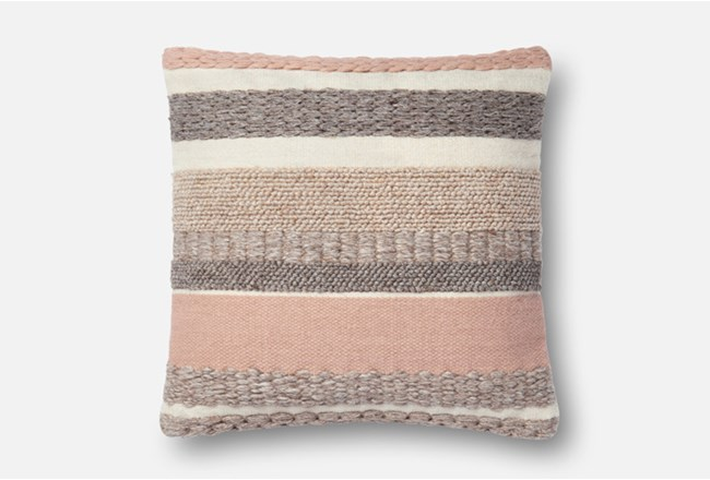 Accent Pillow-Magnolia Home Stripes Blush 22X22 By Joanna Gaines - 360
