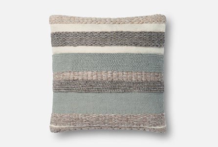 Accent Pillow-Magnolia Home Stripes Sage 22X22 By Joanna Gaines