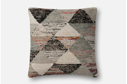 Accent Pillow-Magnolia Home Distressed Harlequin Grey/Multi 22X22 By Joanna Gaines - Main