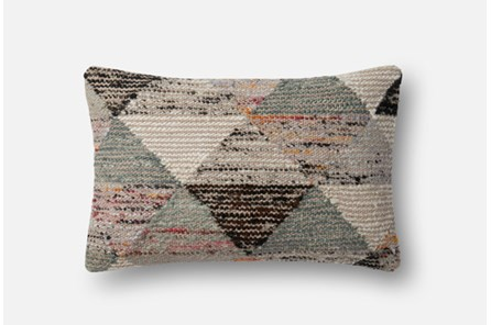 Accent Pillow-Magnolia Home Distressed Harlequin Grey/Multi 13X21 By Joanna Gaines