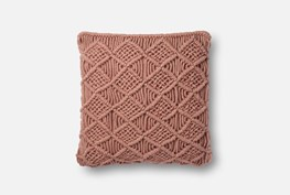 Accent Pillow-Magnolia Home Macrame Blush 18X18 By Joanna Gaines