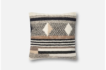 Accent Pillow-Magnolia Home Chunky Knit Pattern Multi 18X18 By Joanna Gaines - Main