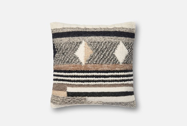 Accent Pillow-Magnolia Home Chunky Knit Pattern Multi 18X18 By Joanna Gaines - 360