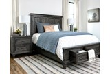 Valencia Queen Panel Bed With Storage - Room