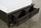 Valencia Queen Panel Bed With Storage - Storage