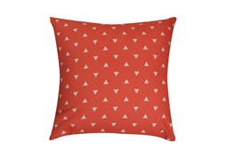 Accent Pillow-Youth Geometric-Coral Triangle 18X18