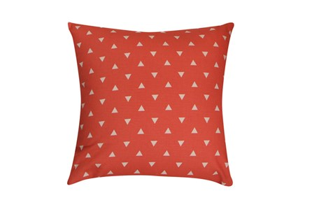 Accent Pillow-Youth Geometric-Coral Triangle 18X18 - Main