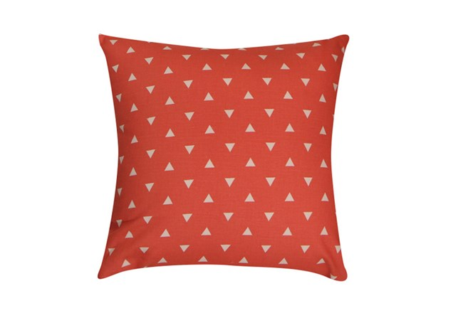Accent Pillow-Youth Geometric-Coral Triangle 18X18 - 360