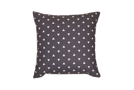 Accent Pillow-Youth Geometric-Navy Triangle 18X18