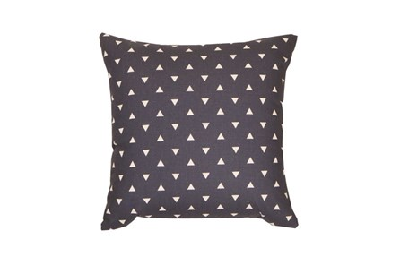 Accent Pillow-Youth Geometric-Navy Triangle 18X18 - Main