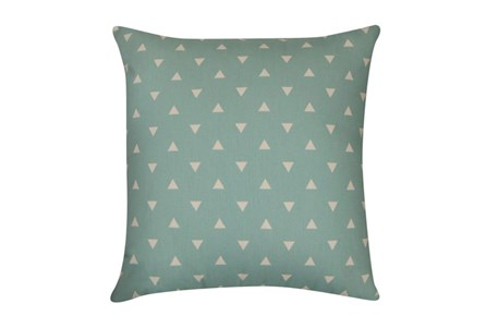 Accent Pillow-Youth Geometric-Aqua Triangle 18X18