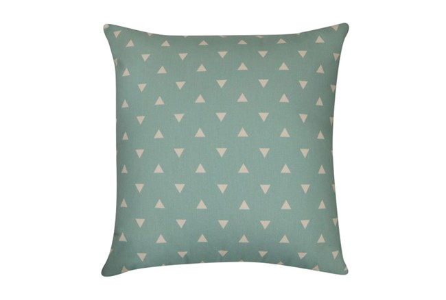 Accent Pillow-Youth Geometric-Aqua Triangle 18X18 - 360