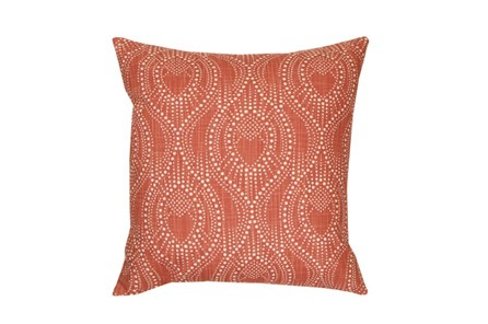 Accent Pillow-Boho Henna Coral 18X18 - Main