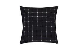 Accent Pillow-Box Check Navy 18X18
