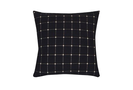 Accent Pillow-Box Check Navy 18X18