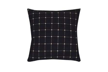 Accent Pillow-Box Check Navy 18X18 - Main