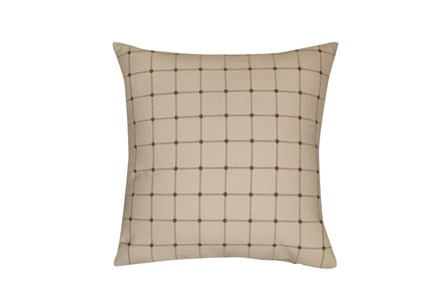 Accent Pillow-Box Check Ivory 18X18
