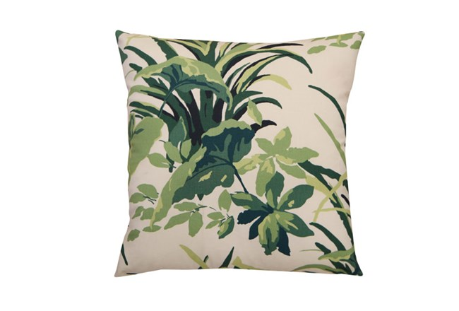 Accent Pillow-Green & White Palm 20X20 - 360