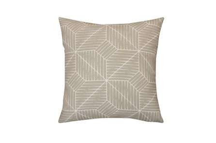 Outdoor Accent Pillow-Cross Hatch Grey 18X18 - Main
