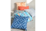 Outdoor Accent Pillow-Variated Stripe Blue/Orange 18X18 - Room