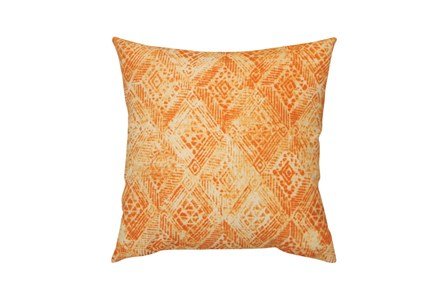 Outdoor Accent Pillow-Summer Ikat Orange 18X18