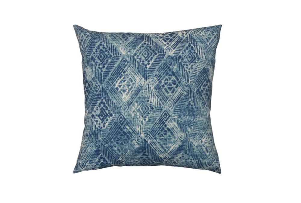 Outdoor Accent Pillow-Summer Ikat Indigo 18X18