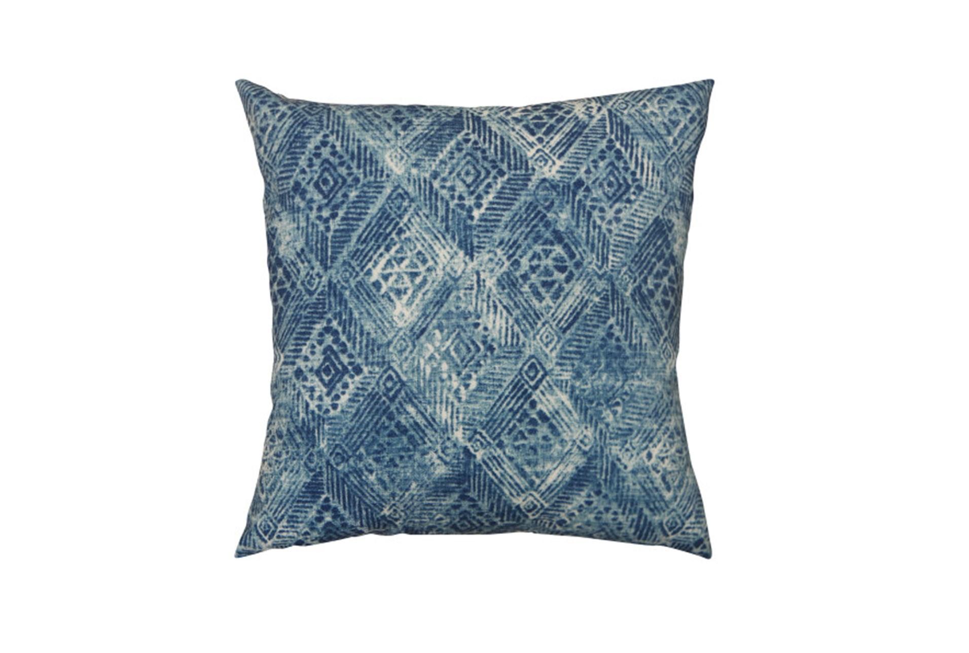 Outdoor Accent Pillow Summer Ikat Indigo 18x18 Living Spaces
