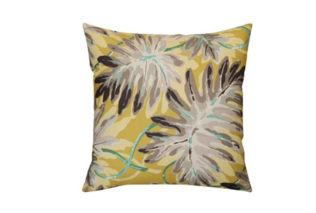 Accent Pillow-Yellow & Grey Palm Leaf 20X20