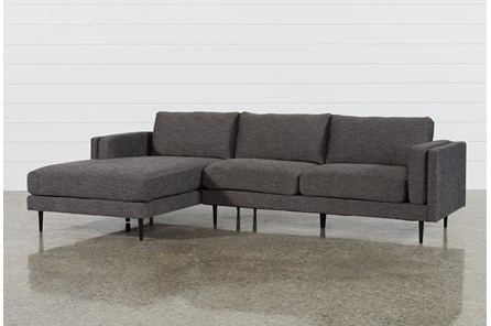 Aquarius Dark Grey 2 Piece Sectional With Left Arm Facing Chaise