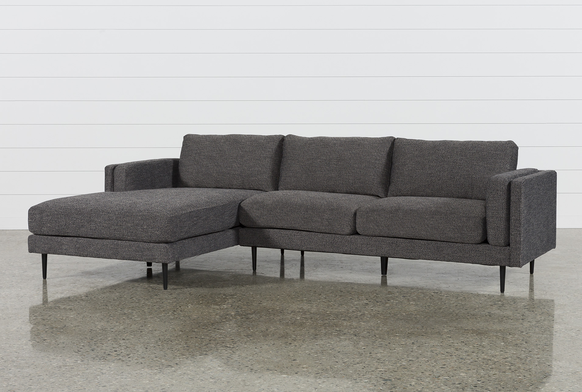 Aquarius Dark Grey 2 Piece Sectional W/Laf Chaise