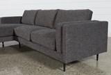 Aquarius Dark Grey 2 Piece Sectional W/Laf Chaise - Right