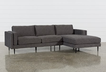 Aquarius Dark Grey 2 Piece Sectional W/Raf Chaise
