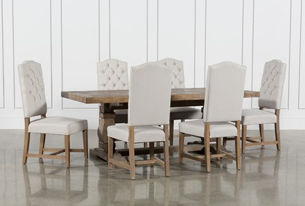 Caden 7 Piece Dining Set With Kaitlyn Side Chairs