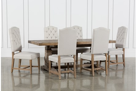 Caden 7 Piece Dining Set With Kaitlyn Side Chairs - Main