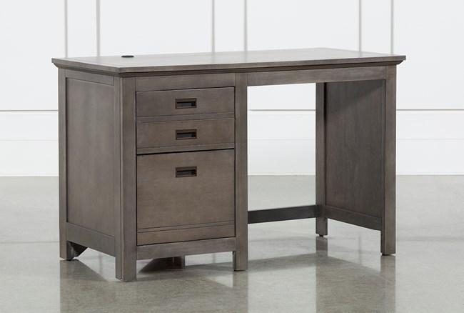 """Owen Grey 48"""" Desk With USB - 360"""