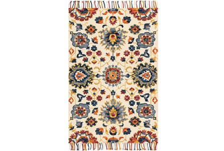 93X117 Rug-Magnolia Home Brushstroke Ivory/Multi By Joanna Gaines