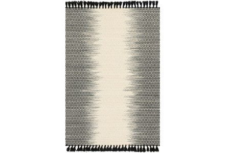 93X117 Rug-Magnolia Home Chantilly Ivory/Black By Joanna Gaines