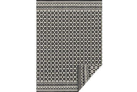93X117 Rug-Magnolia Home Emmie Kay Ivory/Black By Joanna Gaines