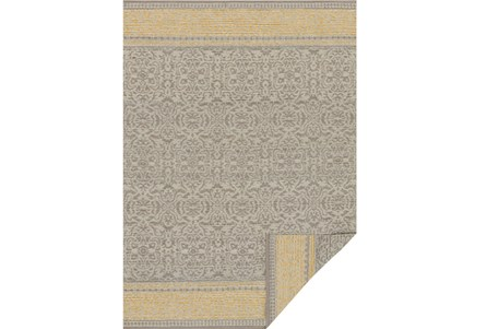 93X117 Rug-Magnolia Home Emmie Kay Grey/Maize By Joanna Gaines