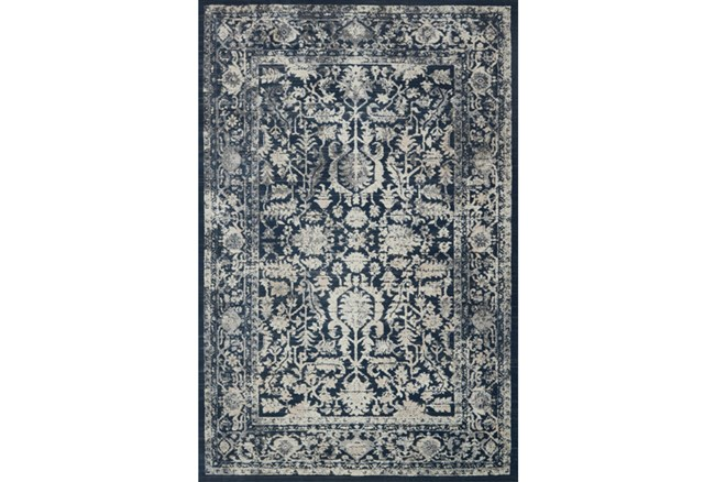 94X130 Rug-Magnolia Home Everly Indigo/Indigo By Joanna Gaines - 360