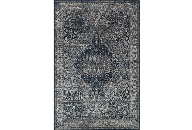 63X92 Rug-Magnolia Home Everly Grey/Midnight By Joanna Gaines - 360