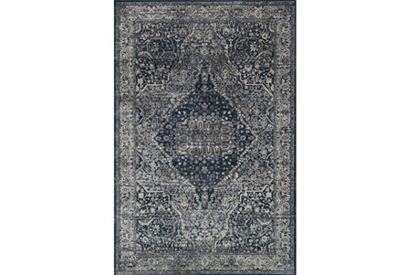 94X130 Rug-Magnolia Home Everly Grey/Midnight By Joanna Gaines
