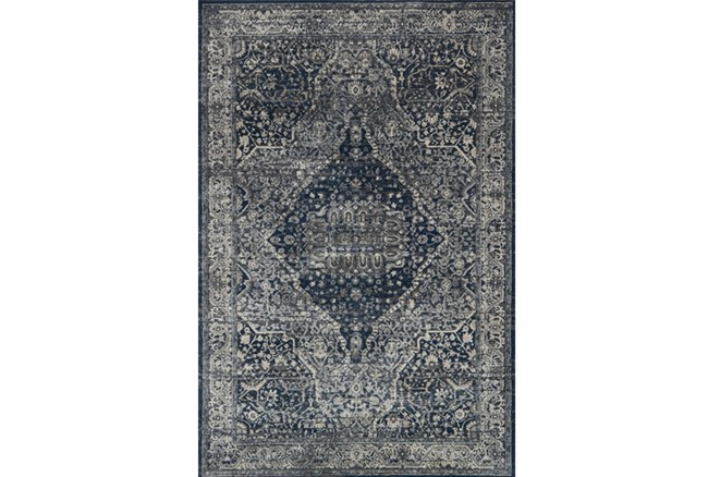 94X130 Rug-Magnolia Home Everly Grey/Midnight By Joanna Gaines - 360