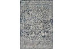 94X130 Rug-Magnolia Home Everly Slate/Slate By Joanna Gaines