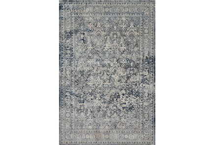 94X130 Rug-Magnolia Home Everly Slate/Slate By Joanna Gaines