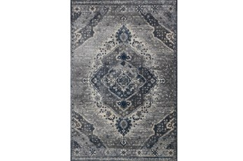 63X92 Rug-Magnolia Home Everly Silver/Grey By Joanna Gaines