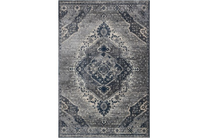 63X92 Rug-Magnolia Home Everly Silver/Grey By Joanna Gaines - 360