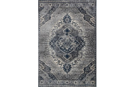94X130 Rug-Magnolia Home Everly Silver/Grey By Joanna Gaines