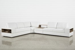 Larimar Stone 4 Piece Sectional W/Console & Usb